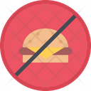 No Fast Food No Junk Food Unhealthy Food Icon