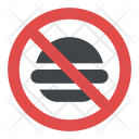 No Fast-food Allowed Sign Icon
