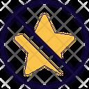 No Feedback No Rating Star Icon