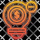 No Finance Idea No Idea Creative Icon