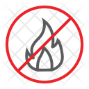 No Fire Flame Icon