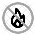No Fire Warning Prohibition Icon