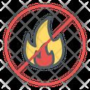 No Fire No Flame Prohibition Icon
