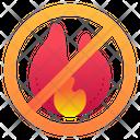 No Fire No Fire Allowed Flame Icon