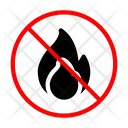 Flame Fire Banned Icon