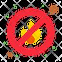 No Fire No Fire Allowed No Flame Icon