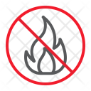 Fire Flame Stop Icon