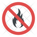 No Fire Sign Icon