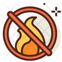 No Fires Ban Fire Block Fire Icon