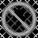 No Flash Warning Prohibition Icon