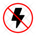 Light Flash Ban Icon