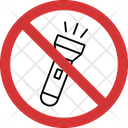 No Flashlight Flashlight Not Allowed Flashlight Prohibition Icon
