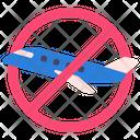 Travel No Flight Prohibited Icon