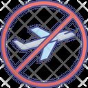 No Flight During Coronavirus Corona Stop No Airplane Icon