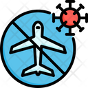 No Flight No Travel Corona Icon