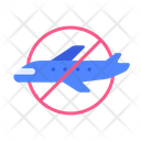 No Plane Flight Icon