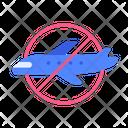 Plane Flight Prohibited Icon
