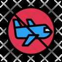 No Flight Stop Travel Flight Icon
