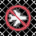 No Flight Coronavirus Covid Icon