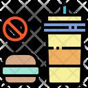 No Junk Food Hamburger No Eating Icon