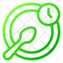 No Food Fasting Time Icon