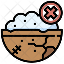No Food Hunger Appetite Loss Icon