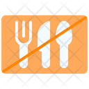 No Food Together Spoon Fork Icon