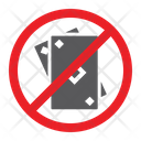 No Gambling Cards Icon