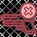 No Gun Stop Gun Firing Weapons Not Icon