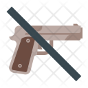 No Weapons Gun Icon