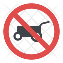 No Hand Cart Sign Icon