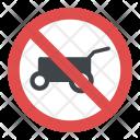 No Hand Cart Warning Icon