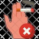 No Hand Cigarette Hand No Smoking Icon