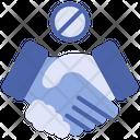 No Handshake Avoid Handshake Coronavirus Icon