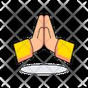 Namaste No Hand Shake No Handshake Namaste Icon