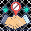 No Handclasp No Handshake Avoid Shakehand Icon