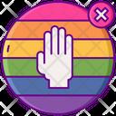 No Homophobia Sign Icon