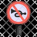 No Honk No Horn Stop Horn Icon