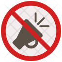 No Honking Sign Icon