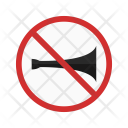 No horn zone Icon