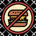No Junk Food Icon