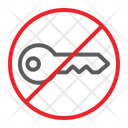 No Key Prohibited Icon