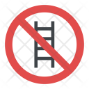 No Ladder Sign Icon