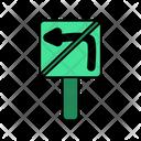 No Left Turn Icon