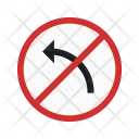 No left turn Icon