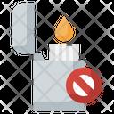 No Lighter No Smocking Lighter Icon