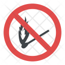 No Matchstick Sign Icon