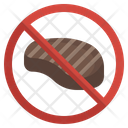 No Meat Beef Vegan Food Icon