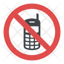 No Mobile Sign Icon