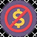 No Money No Economy No Currency Icon